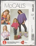 Click here to enlarge image and see more about item 369MP: PONCHO~GIRLS~DOLLS~DOGS~OOP~HTF