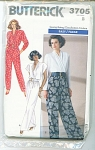 Click here to enlarge image and see more about item 3705P: VINTAGE~BUTTERICK JUMPSUIT~PATTERN~SZ 8