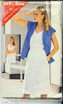 Butterick~Pattern-3806~Jacket/V-neck DRESS