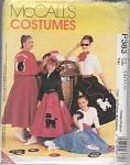 Click here to enlarge image and see more about item 383P: VINTAGE~GIRLS~POODLE SKIRT~JACKET~TOP~SCARF~7