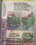 McCall's~One size~tablecloths~3863~VINTAGE