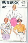 BUTTERICK~FAST & EASY~TOPS PATTERN szP-S-M'86