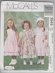 NEW McCALL GIRL'S DRESS & PINAFORE PATTERNS