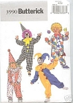 BUTTERICK CLOWN COSTUMES SZ 2,3,4,5