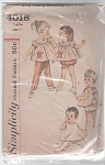 Click to view larger image of VINTAGE TODDLER TOP PANT APRON PANTIES PATTER (Image1)