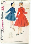 1952~SIMPLICITY GIRLS COAT PATTERN SZ 8 4027