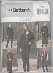 Click here to enlarge image and see more about item 4035: BUTTERICK 4035 OOP MISSES' JACKET, VEST, SKIR
