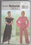 Click here to enlarge image and see more about item 4065B: Butterick B4065~Evening Skirt~Top~Pants~OOP~
