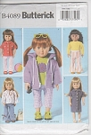 Click here to enlarge image and see more about item 4089: VINTAGE~UNCUT ~18INCH DOLL~WARDROBE~UNCUT