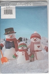 Click here to enlarge image and see more about item 4120: SNOWMAN FAMILY~BUTTERICK 4120~UNCUT