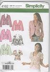 Simplicity 4182 Misses'Jackets~sz 14-22~UNCUT