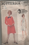BUTTERICK~SZ: 14~Bust 34~One piece dress~4206
