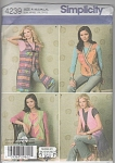 Click here to enlarge image and see more about item 4239B: FOUR VESTS~SHIRLEY BOTSFORD~SIMPLICITY~XS-XL