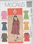 GIRLS RAISED WAIST FLARED DRESS PATTERN~6-8