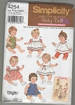 Click to view larger image of 4254 UNCUT~SIMPLICITY BABY DOLL~ VINTAGE (Image1)