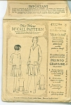 VINTAGE GIRLS DRESS PATTERN FROM  1926