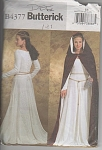 Click here to enlarge image and see more about item 4377: RENAISSANCE DRESS~CAPE~SZ14-20~BUTTERICKUNCUT