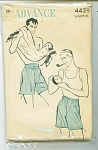Click here to enlarge image and see more about item 4439: VINTAGE ADVANCE MENS BOXER SHORTS 4439P