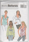 Click here to enlarge image and see more about item 4454: Misses~Tops~4 STYLES~Butterick~4454~6-12~OOP