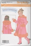 DAISY KINGDOM~FLEECE COAT~GIRLS SZ 3-6