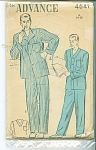 Click here to enlarge image and see more about item 4641: VINTAGE ADVANCE MENS  PAJAMAS 4641P