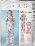 McCALL'S~EASY~PJ's~NIGHTGOWN~ETC~M-L-XL