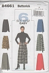 Click here to enlarge image and see more about item 4661: BUTTERICK~4661 Ladies SkirtS~6 styles~16-22
