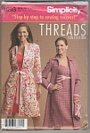 SIMPLICITY 4693~MISSES LINED COAT~DRESS~UNCUT