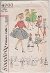 VINTAGE~BARBIE DOLL DRESS PATTERN~SIMPLICITY~