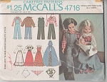 Click to view larger image of McCalls 4716 Doll Clothes BICENTENNIAL COSTUM (Image1)