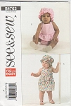 SEE&SEW~BUTTERICK~BABY GIRLS OUTFITS~SZ A