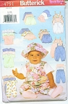 BUTTERICK LAYETTE PATTERN 4791