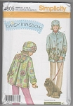 DAISY KINGDOM~FLEECE COAT & HAT~PATTERN 4805~
