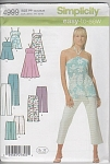 Click here to enlarge image and see more about item 4999: EASY~HALTER BABY TOP~DRESS~CAPRI PANT~PATTERN