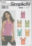 MISSES EASY 6 KNIT TOPS~PATTERN~SZ 12-20~5055