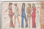 70s Vintage Pattern Fun SideSlit TUNIC~ PANTS
