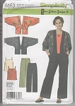 Click here to enlarge image and see more about item 5153A: SUPERB KIMONO JACKET /TOP/PANTS DESIGNER~OOP