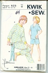 Click to view larger image of VINTAGE 1979 CHILDS PAJAMA  KWIK-SEW PATTERN (Image1)