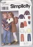 Click here to enlarge image and see more about item 5284: Simplicity~5284~ In K Designs~CHILDS WARDROBE