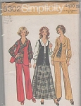 Click here to enlarge image and see more about item 5302: Vintage 70s~Retro BLOUSE SKIRT PANTS~Pattern