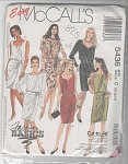 Click here to enlarge image and see more about item 5436P:  McCALL'S #5436 SEWING PATTERN 3-sizes UNCUT