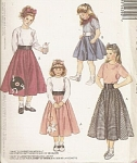 McCalls PATTERN GIRLS POODLE SKIRT