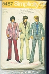 Click to view larger image of VINTAGE~MENS~PANTS~ JACKET~SZ 40~PATTERN (Image1)