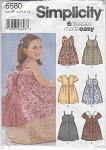 SIMPLICITY~GIRL'S DRESS PATTERNS~5580~SZ  3-8
