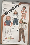 Click to view larger image of SIMPLICITY 5633~SZ 5~GIRLS WARDROBE~UNCUT (Image1)