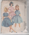 VINTAGE~McCALLS~1960~GIRLS DRESS~3 STYLES