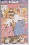 Butterick~GIRLS & MATCHING DOLLS POODLE SKIRT