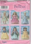 Click here to enlarge image and see more about item 5705: SIMPLICITY 5705~DISNEY PRINCESS~18 IN DOLL