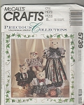 McCalls 5739~OOP ~Family of Cat Dolls~