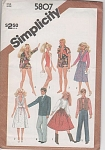 Click here to enlarge image and see more about item 5807-12: VINTAGE~1982~BARBIE~KEN WARDROBE~UNCUT~OOP